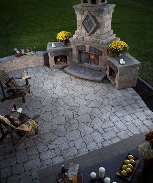 Outdoor fireplace plans building your own fireplace for Patio fireplace plans