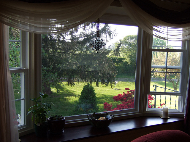 Window treatments for bay