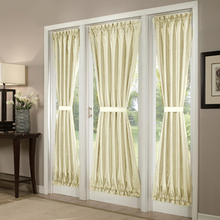 French Door Curtains Enhancing Plain Doors