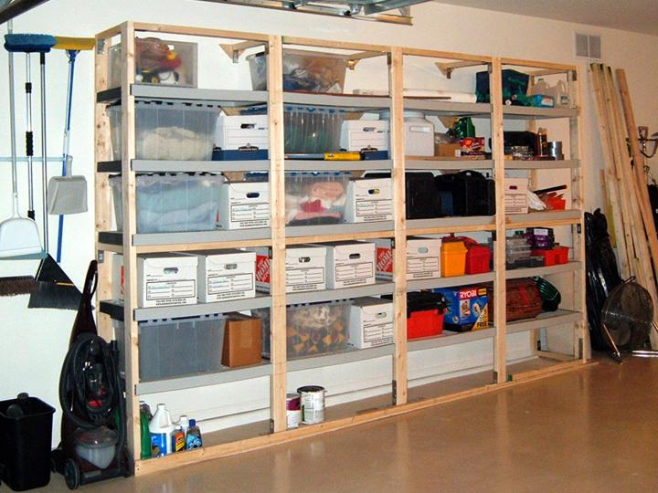 Woodwork garage storage pdf plans for Garage plans with storage