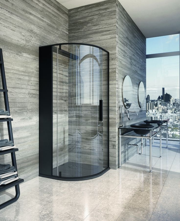 Black-Corner-Shower-Unit