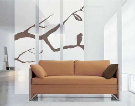 White curtain room dividers
