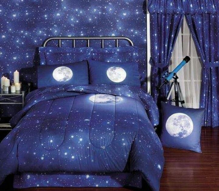 outer space themed bedroom
