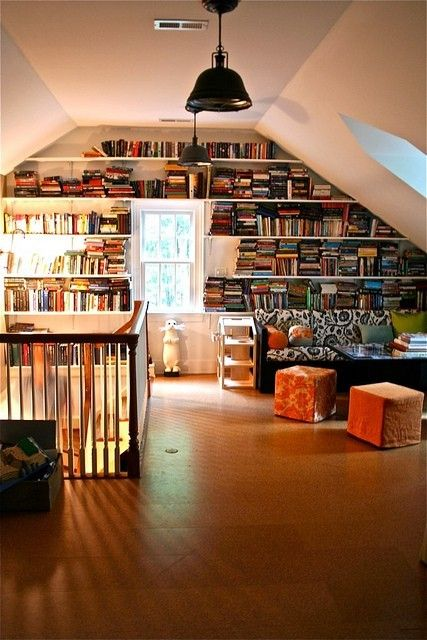 attic renovation study room