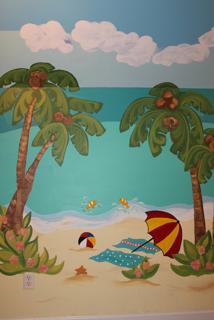 beach inspired playroom