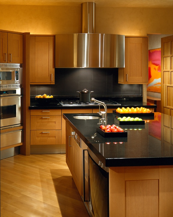 black-kitchen-counter-top