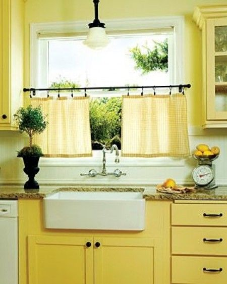 Top 3 kitchen curtain ideas - Country kitchen curtain ideas ...