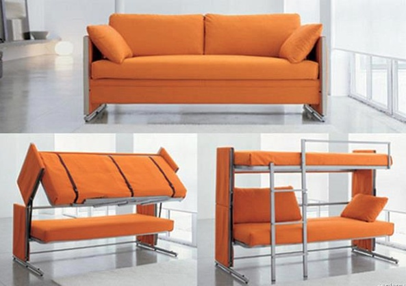 Futon bed that can be converted to a couch