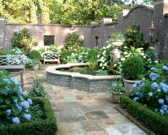 courtyard landscape design ideas On walled courtyard garden design