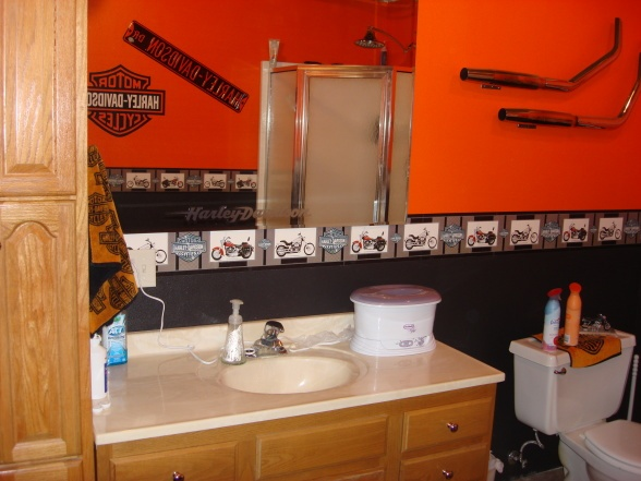 harley davidson fan bathroom