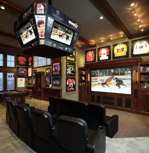 hockey style living space