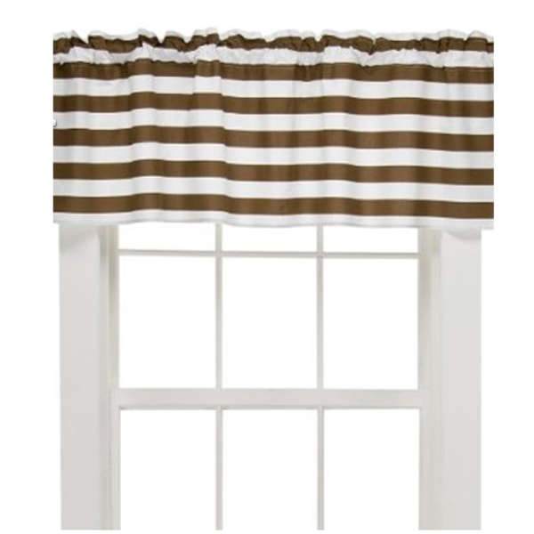 horizontal stripe valance