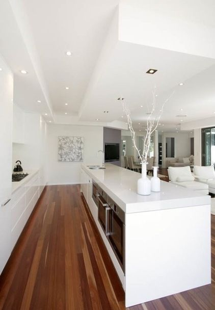 huge white kitchen