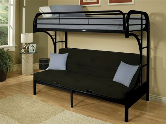 ikea futon bunk bed for more space. Black Bedroom Furniture Sets. Home Design Ideas