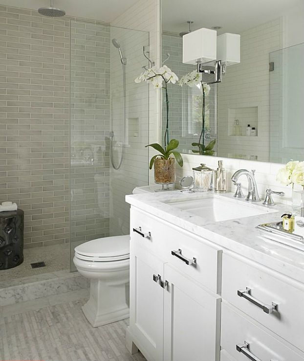 10 ways to make a small bathroom looks bigger for Small bathroom looks