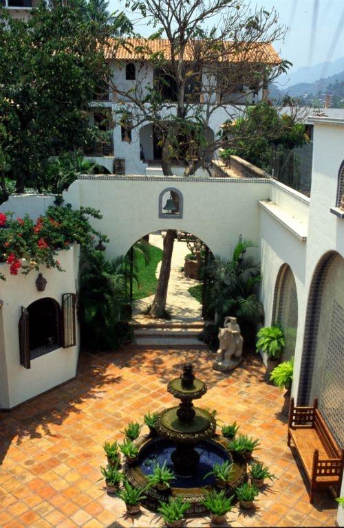 mexican courtyard fountain
