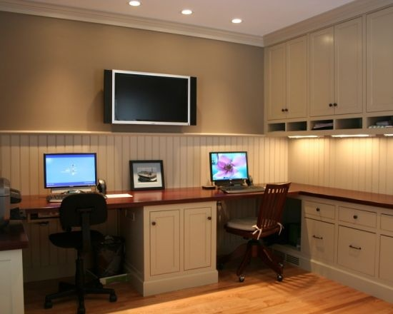 Modern office with downlight