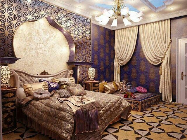 Moroccan bedroom theme for an exotic look - Moroccan style bedroom ...
