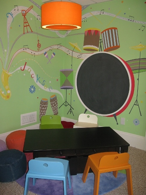 music themed playroom