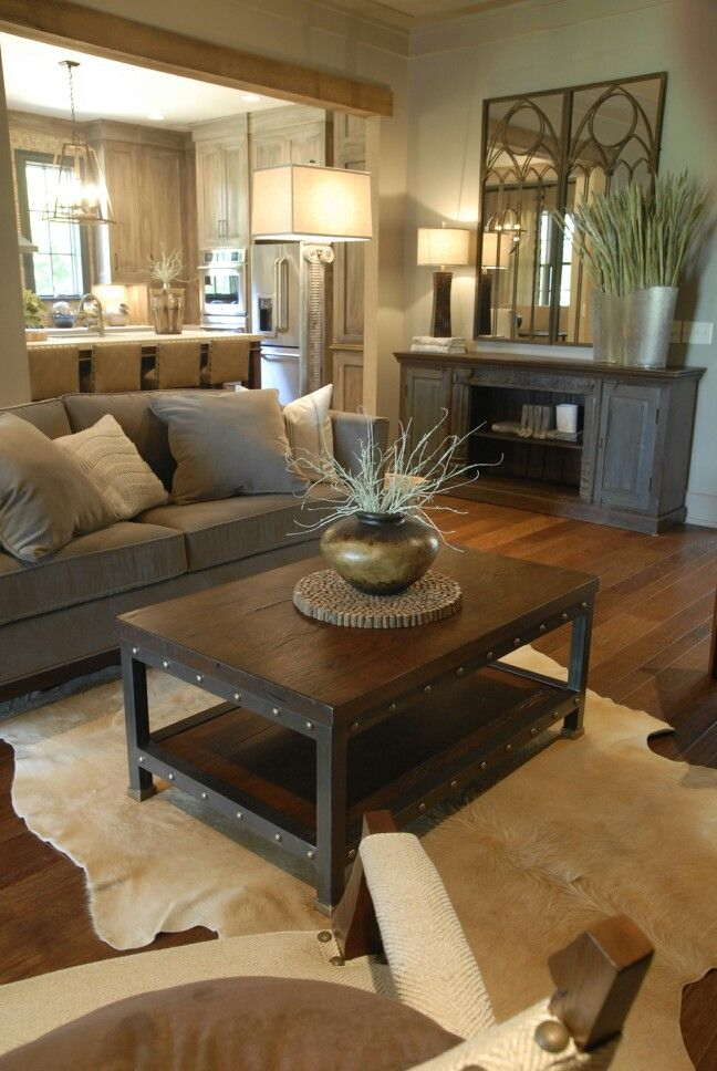 Rustic Decorating Ideas: rustic modern living room design