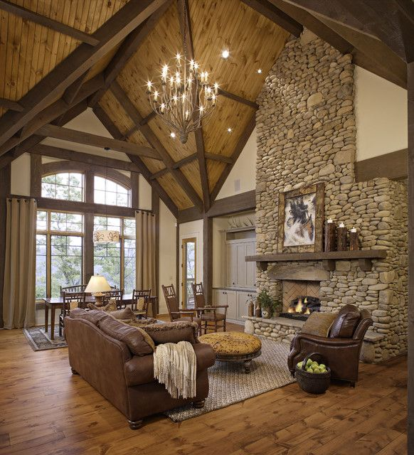rustic theme living room