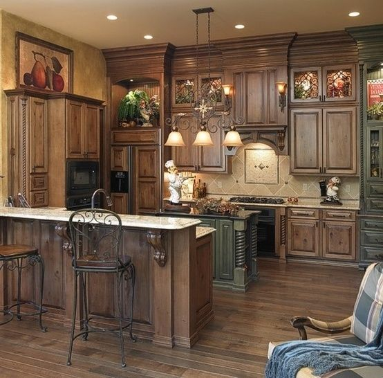 Top 8 kitchen design ideas that you would surely want for your kitchen - Rustic wooden kitchen cabinet ...