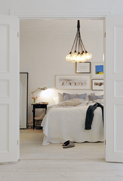 scandinavian bedroom modern white