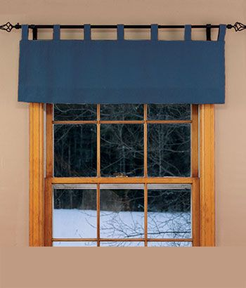 simple tab top valance