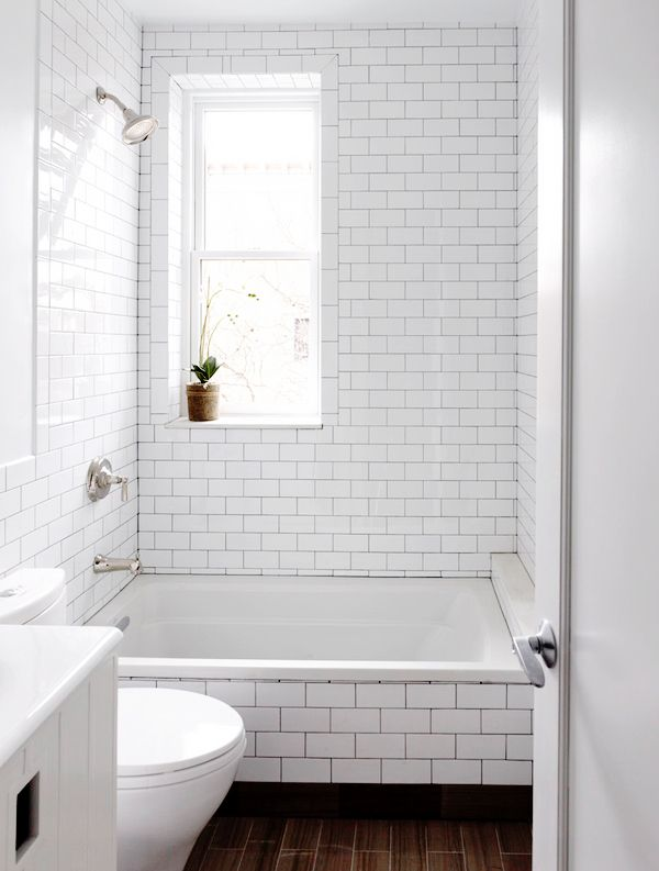 10 ways to make a small bathroom looks bigger - Nice subway tile bathroom designs with tips ...