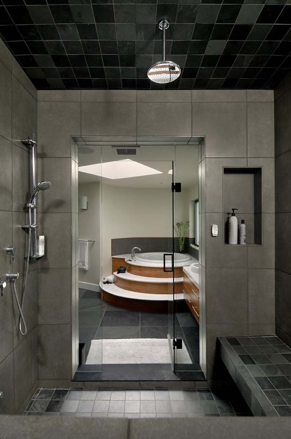 spa theme walk-in shower