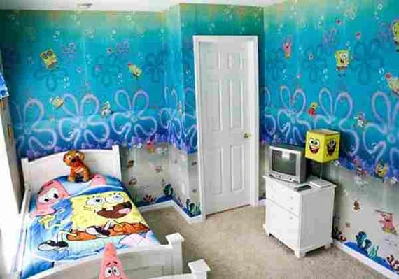 spongebob bedroom theme