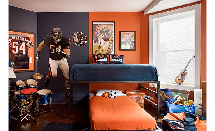 Sports theme bedroom
