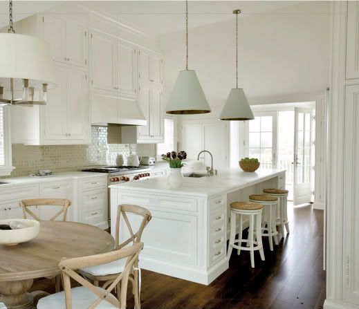 Hamptons Style Lighting: Traditional Coastal Kitchen Design