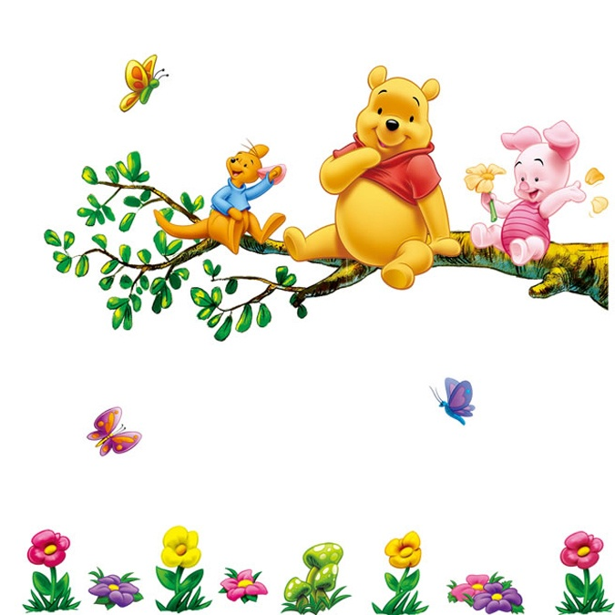 winnie on tree decal