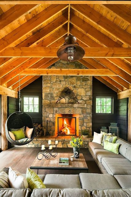 wood color living room